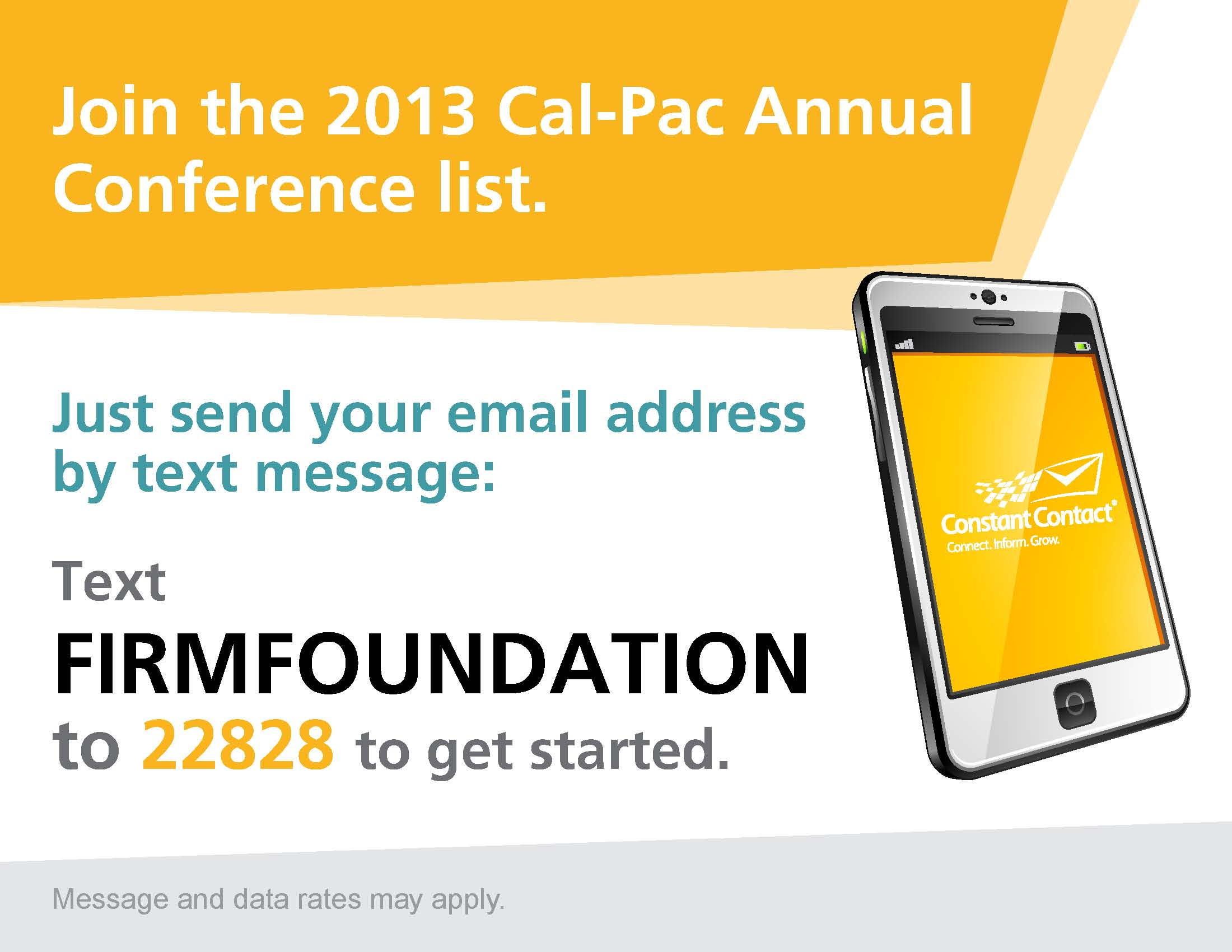 Text FIRMFOUNDATION to 2282