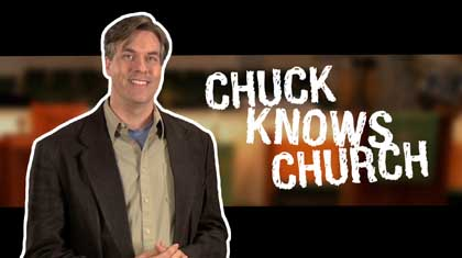Chuck Knows Church Promotional Still